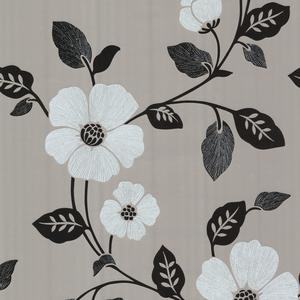 Zync Silver Modern Floral Wallpaper 450-67323