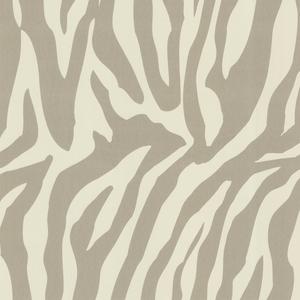 Zebbie Taupe Zebra Print Wallpaper 450-67326