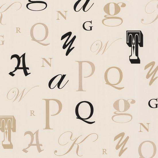 Manuscript Beige Letter Font Wallpaper 450-67336