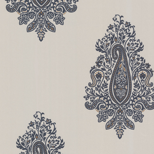 Dynasty Charcoal Paisley Wallpaper 450-67342