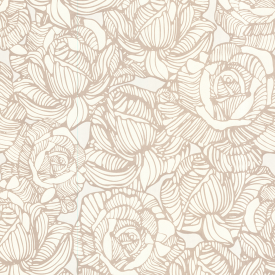 Calista Beige Modern Rose Wallpaper 450-67344