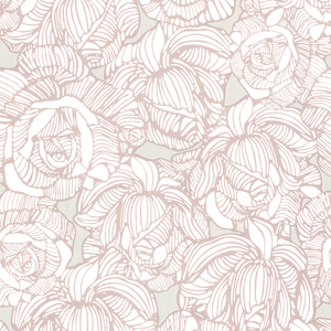 Calista Taupe Modern Rose Wallpaper 450-67347