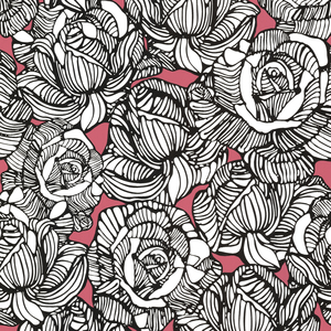 Calista Pink Modern Rose Wallpaper 450-67348