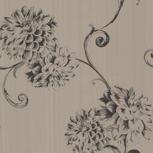Deliah Sepia Watercolor Dahlia Wallpaper 450-67357