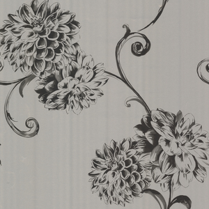 Deliah Silver Watercolor Dahlia Wallpaper 450-67358