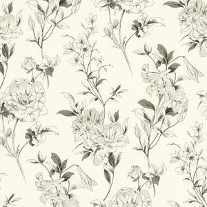 Jolie Cream Floral Toss Wallpaper 450-67369