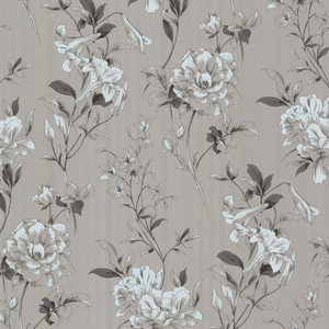 Jolie Silver Floral Toss Wallpaper 450-67370
