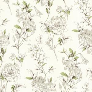 Jolie Green Floral Toss Wallpaper 450-67371