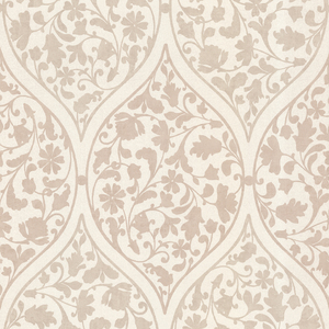 Adelaide Taupe Ogee Floral Wallpaper 450-67385