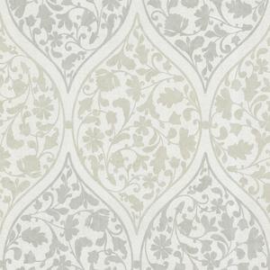 Adelaide Light Green Ogee Floral Wallpaper 450-67386