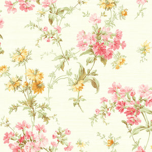 Cottage Garden in Yellow and Pink RV20301