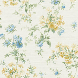 Cottage Garden in Yellow and Blue RV20303