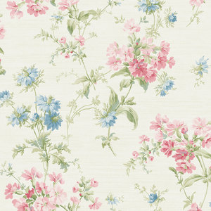 Cottage Garden in Blue and Pink RV20304