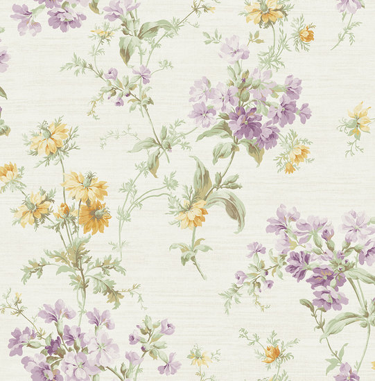 Cottage Garden in Violet and Yellow RV20309