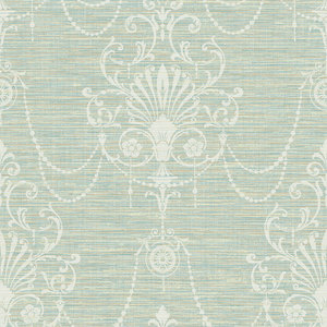 Floral Ornament in Mint and Biege RV20804