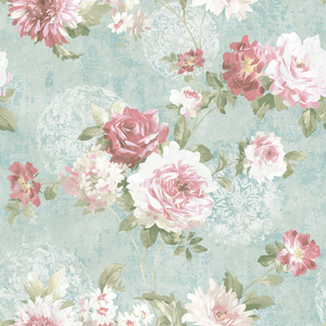 Rose Garden in Vintage Blue VA10502
