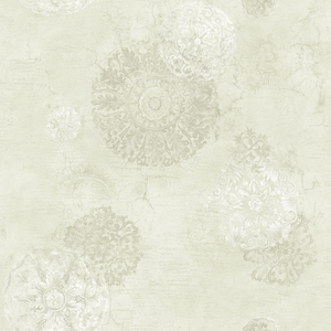 Floral Medallion in Cream VA10802