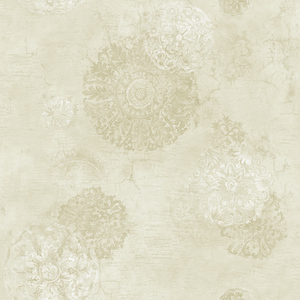Floral Medallion in Beige VA10801