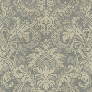 Damask in Cream and Grey VA10218