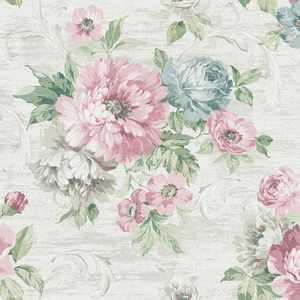 Scrolling Garden Roses in Pearl VA10102