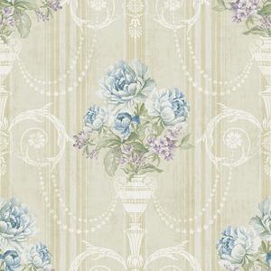 Classic Floral in Golden Biege VA10702