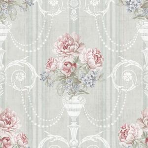 Classic Floral in Cinder Block VA10708