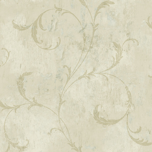 Vintage Scroll in Linen VA10409