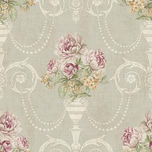 Classic Floral in Bone VA11409