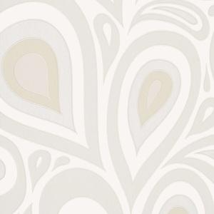 Minimalist Paisley - Chalk NN154