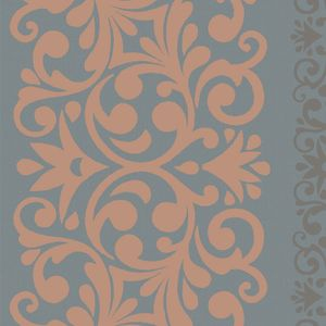 Floral Stripe - Cinnamon 55236