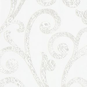 Textured Scroll - Pearl White 55244