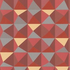 Mid-Century Geometric - Rust NN118