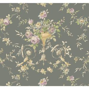 Floral Urn Wallpaper AK7465