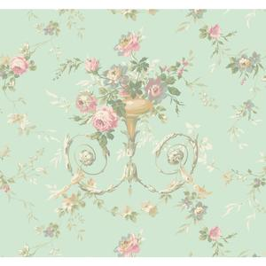 Floral Urn Wallpaper AK7466