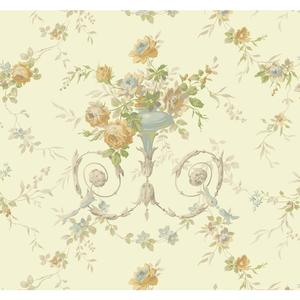 Floral Urn Wallpaper AK7467
