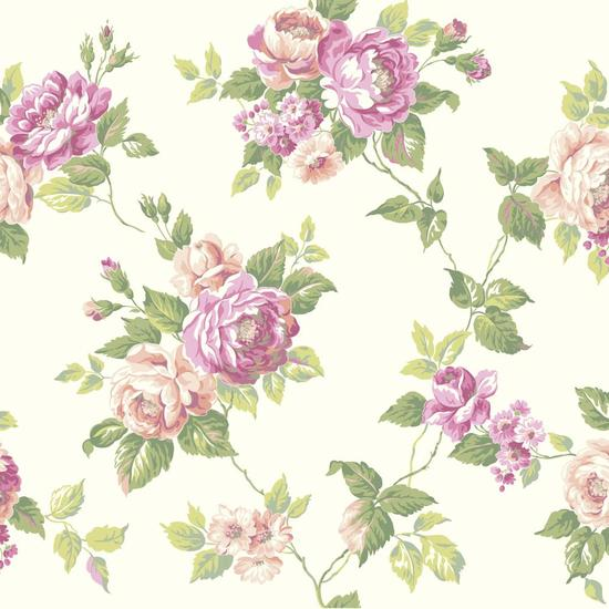 Garden Rose Trail Wallpaper AK7492