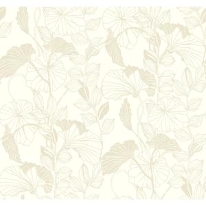 Leaf Outline Wallpaper AB1877
