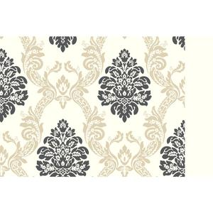 Ogee Damask Wallpaper AB2026