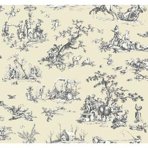 Scenic Toile Wallpaper AB2130