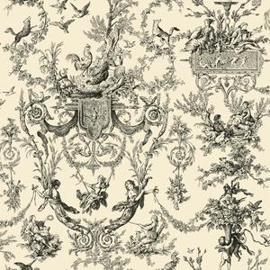Old World Toile Wallpaper AB2139