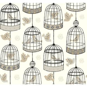 Birdcage Wallpaper AB2142