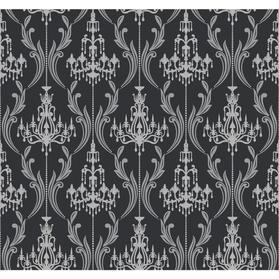 Chandelier Damask Wallpaper AB2169
