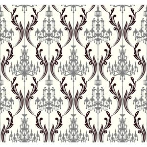Chandelier Damask Wallpaper AB2170