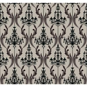 Chandelier Damask Wallpaper AB2171