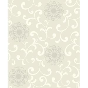 Medallion W/Scroll Wallpaper AB2174