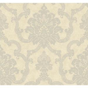 Decorative Damask Wallpaper AB2184