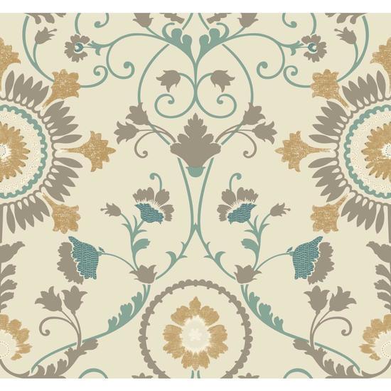 Enamel Ornament Wallpaper MS6401