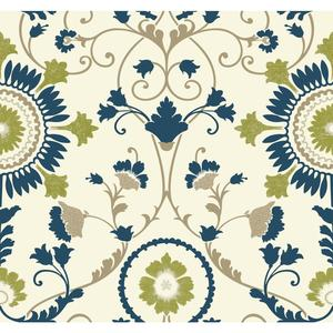 Enamel Ornament Wallpaper MS6404