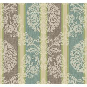 Woven Damask Stripe Wallpaper EB2090
