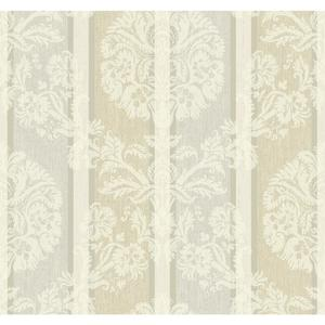 Woven Damask Stripe Wallpaper EB2092